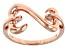 14k Rose Gold Over Sterling Silver Open Design Ring