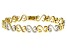 White Cubic Zirconia 14k yellow Gold Over Sterling Silver Tennis Bracelet