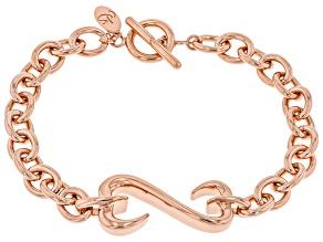 14k Rose Gold Over Sterling Silver Unisex Bracelet