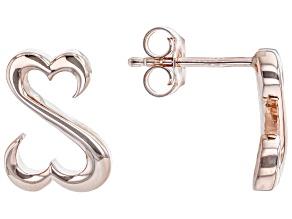14k Rose Gold Over Sterling Silver Stud Earrings