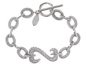 White Cubic Zirconia Rhodium Over Sterling Silver Bracelet 4.20ctw