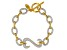 White Cubic Zirconia 14k Yellow Gold Over Sterling Silver Bracelet