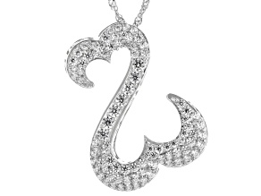 White Cubic Zirconia Rhodium Over Sterling Silver Pendant With Chain 2.25ctw