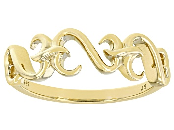 Picture of 14k Yellow Gold Over Sterling Silver Band Ring