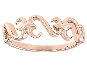 Picture of 14k Rose Gold Over Sterling Silver Band Ring