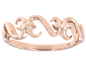 14k Rose Gold Over Sterling Silver Band Ring