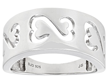 Picture of Rhodium Over Sterling Silver Wide Band Ring