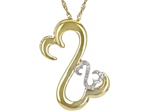 White Diamond Accent 14k Yellow Gold Over Sterling Silver Pendant With Chain