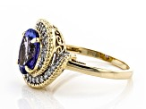 Blue Tanzanite 10k Yellow Gold Ring 3.17ctw