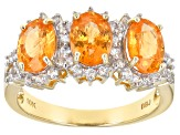 Orange Nigerian Spessartite 10k Yellow Gold 2.81ctw