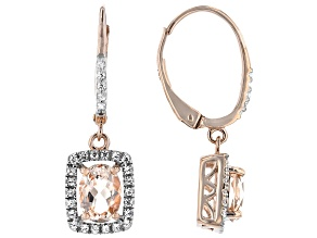 Pink Morganite 10k Rose Gold Earrings 1.53ctw