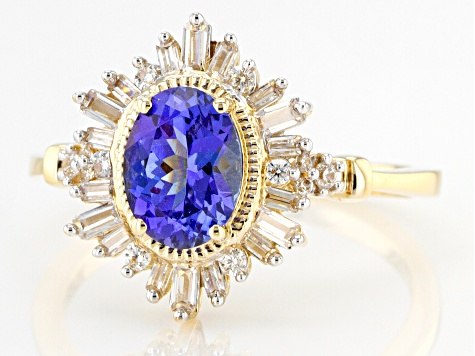 Blue Tanzanite 14k Yellow Gold Ring 1.75ctw