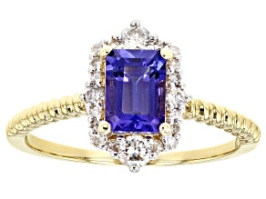 Blue Tanzanite 14k Yellow Gold Ring 1.13ctw