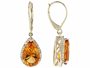 Golden Citrine 10k Yellow Gold Earrings 4.70ctw