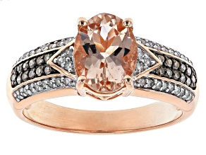 Pink Morganite 10k Rose Gold Ring 1.66ctw