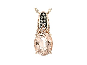 Pink Morganite 10k Rose Gold Pendant With Chain 1.50ctw