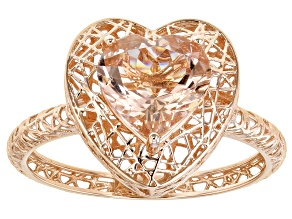 Pink Morganite 10k Rose Gold Ring 1.44ct