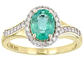 Green Ethiopian Emerald 10k Yellow Gold Ring 1.49ctw