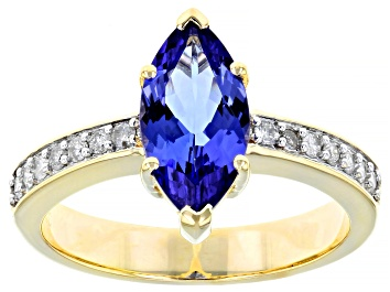 Picture of Blue Tanzanite 10k Yellow Gold Ring 1.75ctw