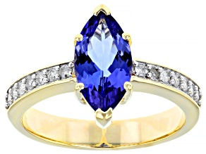 Blue Tanzanite 10k Yellow Gold Ring 1.75ctw
