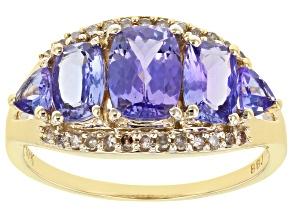 Blue Tanzanite 10k Yellow Gold Ring 1.77ctw