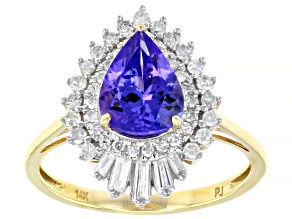 Blue Tanzanite 14k Yellow Gold Ring 2.10ctw