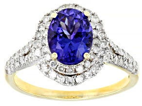 Blue Tanzanite 14k Yellow Gold Ring 2.23ctw