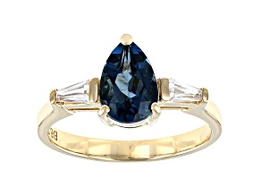 London Blue Topaz 10k Yellow Gold Ring 1.71ctw