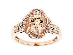 Pink Oval Cor-De-Rosa Morganite™ 10k Rose Gold Ring 2.27ctw