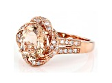 Pink Oval Cor-De-Rosa Morganite™ 10k Rose Gold Ring 2.27ctw