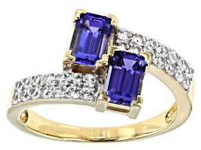Blue Tanzanite 10k Yellow Gold Ring 1.70ctw
