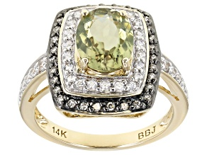 Green Diaspore 14k Yellow Gold Ring 1.94ctw