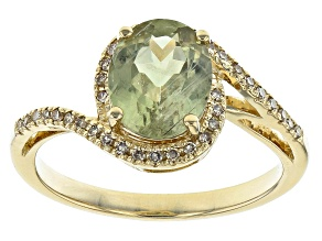 Green Diaspore 14k Yellow Gold Ring 1.57ctw
