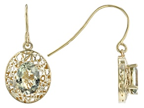 Color Change Diaspore 14k Yellow Gold Filigree Earrings 1.38ctw