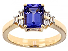 Blue Tanzanite 10k Yellow Gold Ring 1.62ctw