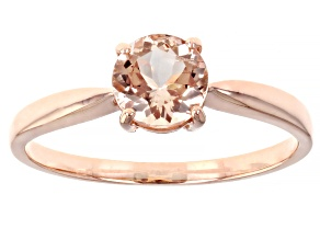Pink Morganite 10k Rose Gold Ring 0.64ctw