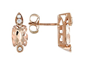 Pink Cor-de-Rosa Morganite™ 10k Rose Gold Earrings 1.66ctw