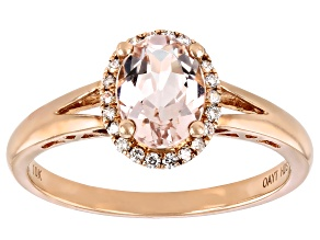 Pink Cor-de-Rosa Morganite™ 10k Rose Gold Ring 1.21ctw