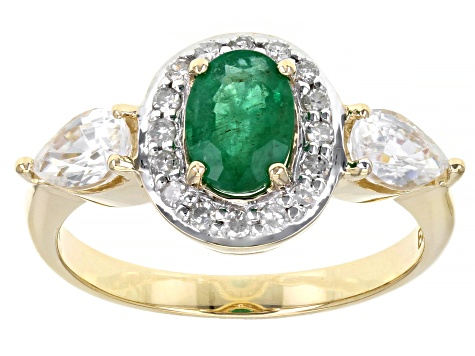 Green Emerald 10k Yellow Gold Ring 1.97ctw