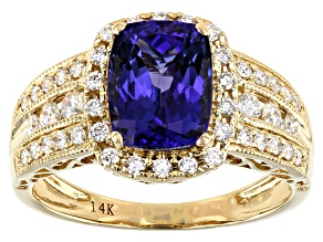 Blue Tanzanite 14k Yellow Gold Ring 2.27ctw