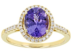 Blue Tanzanite 14k Yellow Gold Ring 1.90ctw