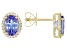 Blue Tanzanite 14k Yellow Gold Stud Earrings 2.06ctw