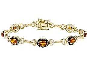 Orange Madeira Citrine 10k Yellow Gold Bracelet 3.00ctw
