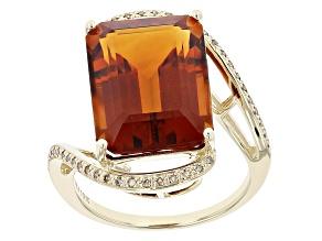 Orange Madeira Citrine 10K Yellow Gold Ring 9.46ctw