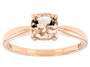 Pink Cor De Rosa Morganite 10K Rose Gold Solitaire Ring 0.66ct