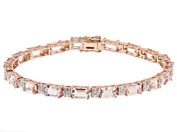 Picture of Pink Morganite 14k Rose Gold Bracelet 8.51ctw