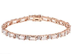 Pink Morganite 14k Rose Gold Bracelet 8.51ctw