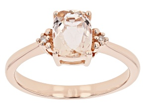Peach Morganite 10k Rose Gold Ring 1.32ctw
