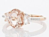 Pink Morganite 10K Rose Gold Ring 1.57ctw