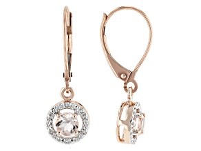 Pink Morganite 10K Rose Gold Earrings 0.40ctw